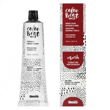 Mascarilla Color Beat Refresh Scarlet Red 100ml Glossco